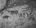 Cave paintings of people with cattle, ca. 4000...