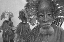 Dongon tribesmen in traditional masks, Mali....