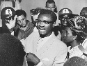 Patrice Lumumba speaking with supporters in Congo...