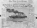 The New York Times reports the sinking of the...