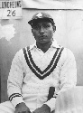 Indian cricketer Lala Amarnath (1911-2000) during...