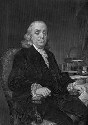 Portrait of Benjamin Franklin with scientific...