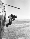 A member of the U.S. Army Special Forces jumps...