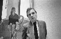 Francis Bacon in May 1985 at the Tate Gallery...