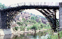 The Iron Bridge across the Severn Gorge...