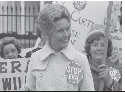 Activist Phyllis Schafly at a demonstrattion...
