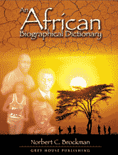 An African Biographical Dictionary book cover art