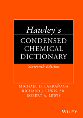 Hawley's Condensed Chemical Dictionary - Wiley - Literati by