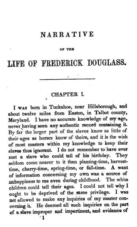 Narrative of the life of frederick douglass essay