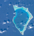 Satellite image of Bikar Atoll, which is one of...