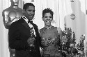 Academy Award winners Denzel Washington and Halle...