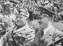 Two of the greatest fascists in history, Benito...
