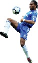 Didier Drogba, from the Côte d'lvoire, playing...