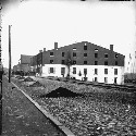 Side view of Libby Prison, 1865 (Library of...