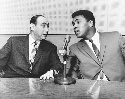 Muhammad Ali (right) and Howard Cosell (left) on...