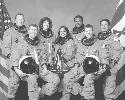 The seven crew members of the space shuttle...