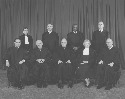 Justices of the U.S. Supreme Court photographed...
