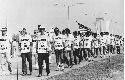 Striking air traffic controllers walk the picket...