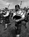Massed pipe bands at Oklahoma Scottish Games &...