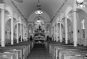 Interior of St. Anthony's of Padua, South Dakota....