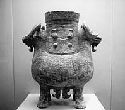 Bronze ritual vessel of the Shang period, twelfth...