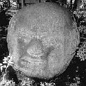 Carved monolithic head from Monte Alto (Image...