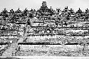 One of the ornate temples at Borobudur,...