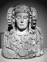 "Painted limestone bust of the ""Lady of Elche,""..."