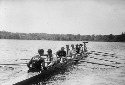 Yale varsity crew members practice for a race...