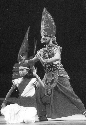 V. Gireesan as Duryodhana and Manju as Durjaya in...