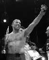 Professional fighter Royce Gracie raises his...