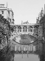 Bridge of Sighs in Cambridge, England, ca. 1900....