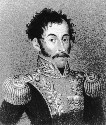 South American revolutionary leader Simón Bolívar...