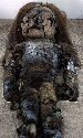 Mummified Chinchorro baby, San Miguel Museum in...