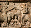 Ardashir I receives his crown from the god Ahura...