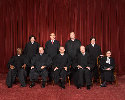 Justices of the U.S. Supreme Court in 2009....
