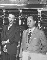 J. Robert Oppenheimer (left) and John von Neumann...