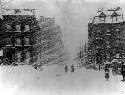 Blizzard of 1888, New York City. (Library of...