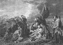 General James Wolfe, lying mortally wounded on...