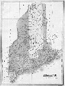 An 1826 map of Maine includes entries for rivers,...