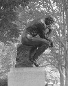Rodin's The Thinker rests in the gardens of the...