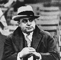 Al Capone at a football game in Chicago, 1931....