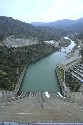 The Sacramento River is seen below Shasta Dam...