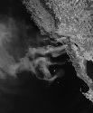Smoke from fires in Southern California, October...