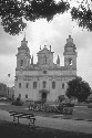 A grand colonial-era Catholic church in Belém,...