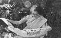 Indian Prime Minister Indira Gandhi reads the...