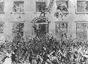 Rioters sack the Brownstone Houses in New York...