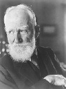 Portrait of playwright George Bernard Shaw, who,...