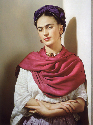 Mexican painter, Frida Kahlo. (Hulton/Archive by...
