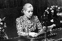 Eva Perón makes a world broadcast in support of...